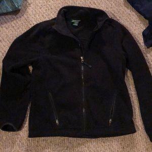 L L Bean black coat